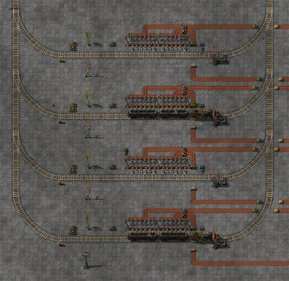 how to make train systems factorio